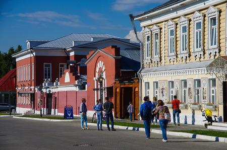 KOLOMNA, RUSSIA - June, 2017:  The old street Lazhechnikov in Kolomna, Moscow region
