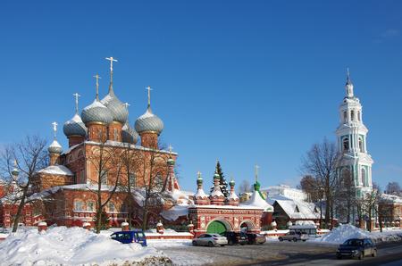 KOSTROMA, RUSSIA - February, 2018: View of the Resurrection Church on the Debra 新聞圖片