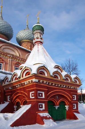 KOSTROMA, RUSSIA - February, 2018: View of the Resurrection Church on the Debra 版權商用圖片