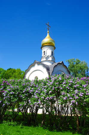 MOSCOW, RUSSIA - May, 2019: The All Russian Exhibition Center, the Chapel of St. Basil the Great