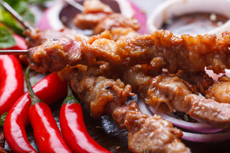 mutton: China food, roast mutton and beer Stock Photo