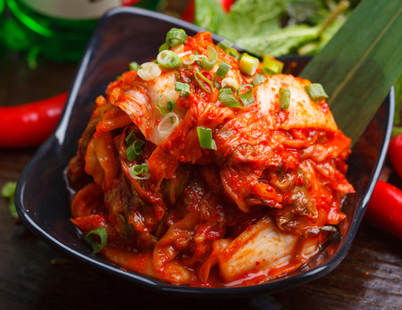 chinese dialect: Korean pickled cabbage,The East Asian traditional food Stock Photo