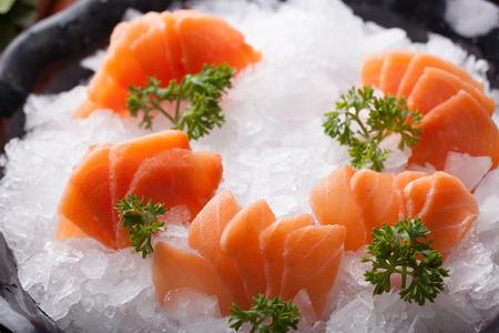 fish type: Salmon sashimi - japanese food style Stock Photo