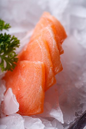 Salmon sashimi - japanese food style photo