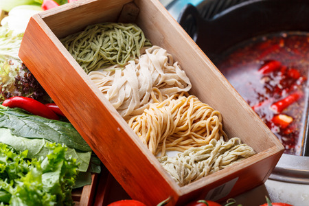 mian: Chinese food, thin egg noodles