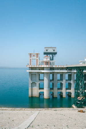 hydrological: Hydrological station, a large reservoir of China