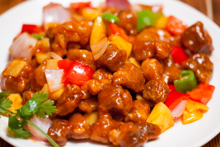 cantonese: Fried pork with sweet and sour sauce,Cantonese cuisine