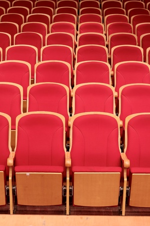 Concert Hall Red Chairs