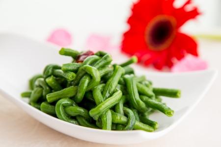 sichuan green beans Stock Photo