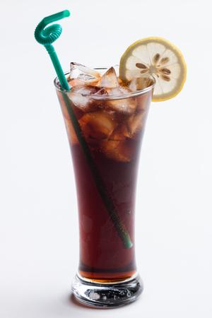 Soda drinks on white background