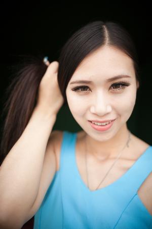 A beautiful asian girl Stock Photo