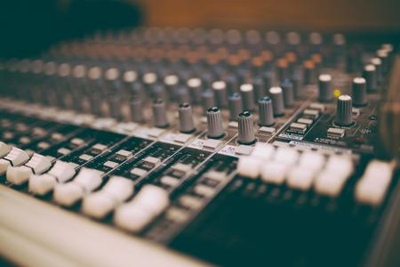Professionele mixers met retro toon Stockfoto
