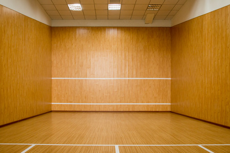 The Squash Court, Pure Wood Floor Stock Photo, Picture And Royalty ...