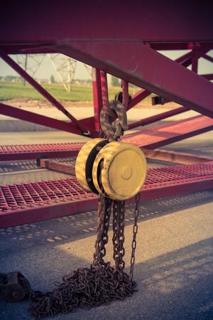 crane parts: La gr�a de cable, gran parte de las piezas Foto de archivo