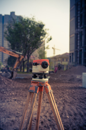 rangefinder: Range finder, placed in a small construction site