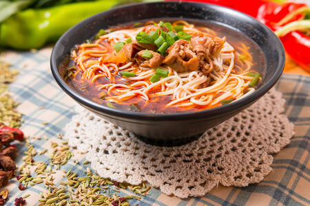 Hand-Pulled Noodle, popular in the China fast food photo