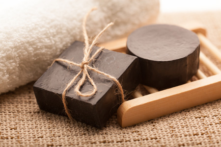Handmade soap, making use of natural raw materials Фото со стока