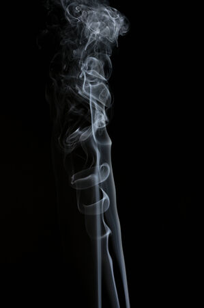 black background abstract: Smoke, in studio photography, black background Stock Photo