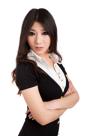 A beautiful Asian staff with business attire Stock Photo - 88531188