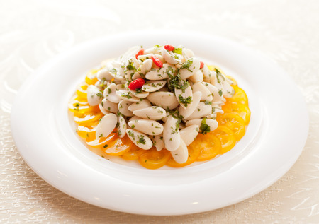 lotus seed: A traditional Chinese food, lotus seed Stock Photo