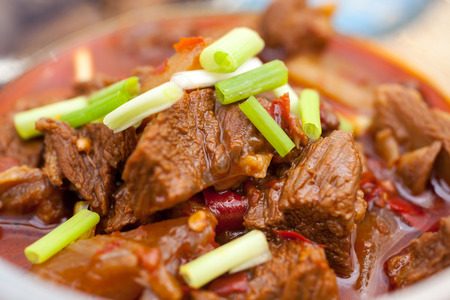 Chinese dinner, braised beef with carrots