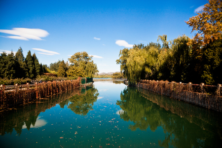the summer palace: The landscape in the Summer Palace, Stock Photo