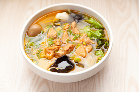 Chinese cuisine, Yunnan vermicelli many kinds of spices photo