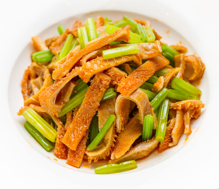 Sichuan cuisine, spicy beef tripe photo