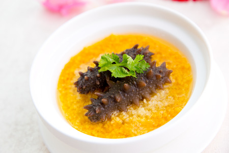 sea cucumber: Traditional Chinese food with Sea cucumber ,abalone ,Millet, medlar