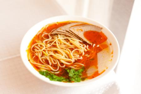 Lanzhou ramen, a popular Chinese pasta