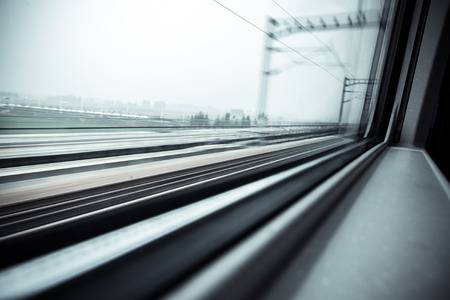 The train window Stock Photo