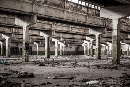 Old factory buildings, spacious workshop Editorial