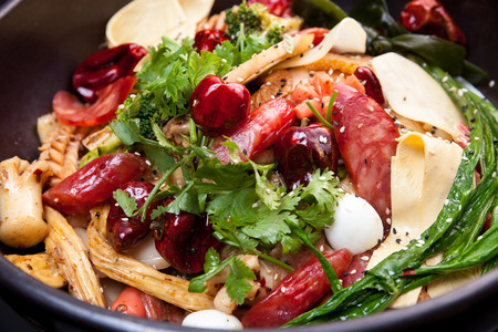 Spicy hot pot,This dish is very popular in China photo