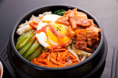 Bibimbap, Korean food photo