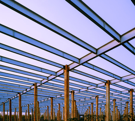 The steel frame, the half built site photo