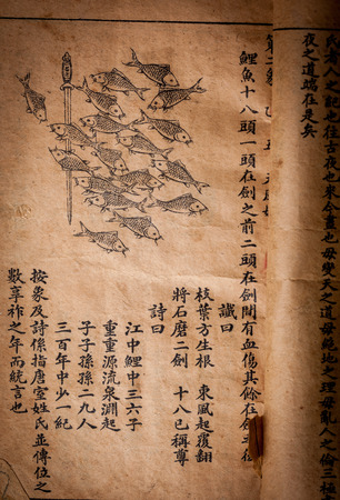 A very old Chinese divination book, Tui Bei Tu, Ming Dynasty photo