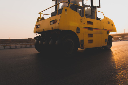 The road roller, under construction