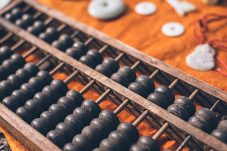 The abacus, ancient tools China count photo