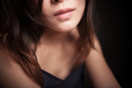 asia nude: Asian sexy woman,black studio shoot