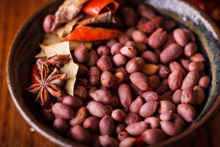 legumbres secas: Man� Foto de archivo