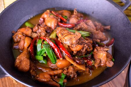 china cuisine: Chicken with Chili and pepper