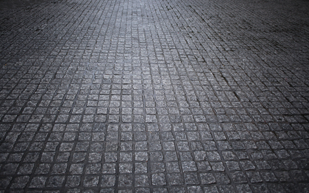 wet floor: The road after the rain