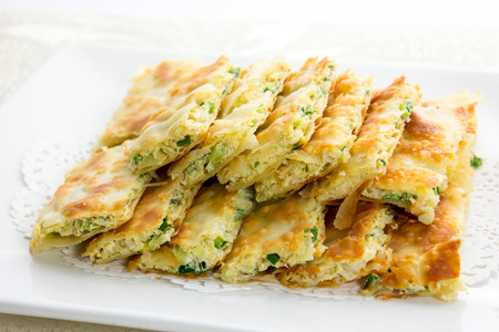 scallion: Baked Scallion Pancake