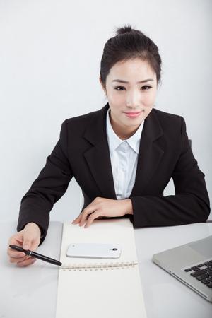 Asian business woman at work Фото со стока