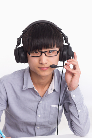 A Chinese male operator Stock Photo - 88535392