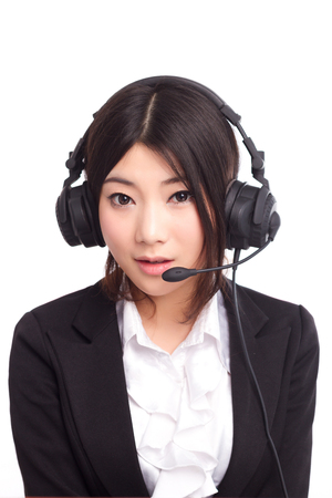 A young Asian female operator Stock Photo - 88535398