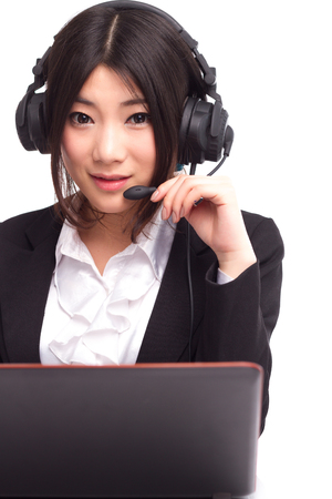 A young Asian female operator Stock Photo - 88535404