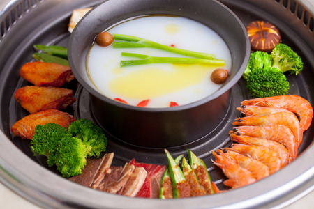 Barbecue and hot pot together