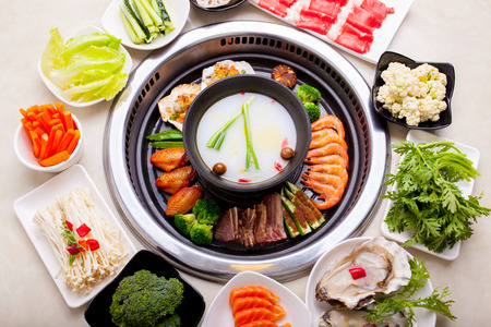 Barbecue and hot pot together Stock Photo - 43475578