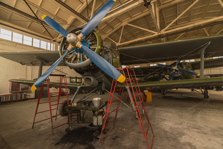 Ancient piston engine aircraft, China Editorial